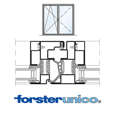 Image for Window Forster unico, frame 30 mm, double leaf