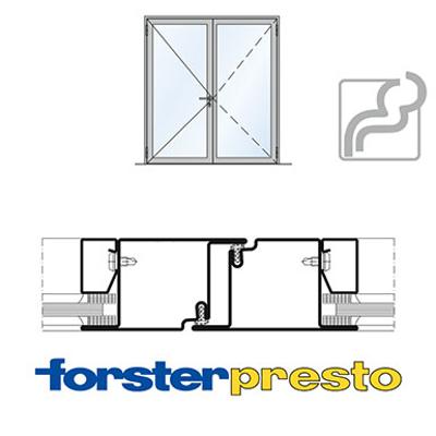 Image for Door Forster presto, frame 50 mm, double leaf