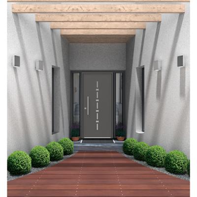 Image pour Porte d'entrée PVC 2 vantaux tiercés