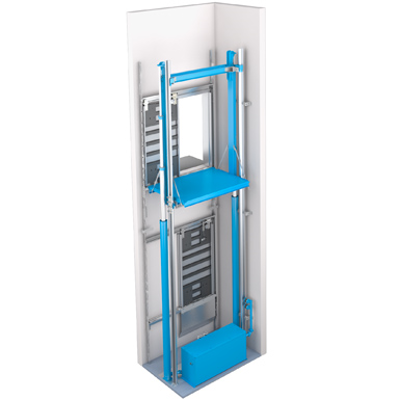 Image for endura MRL above-ground 2-stage hydraulic