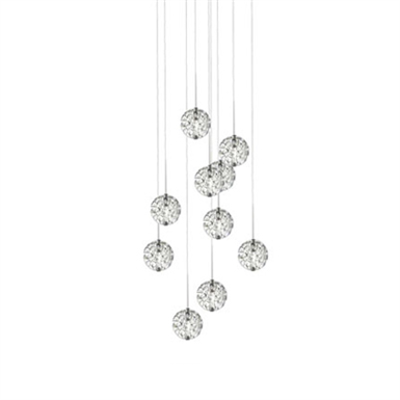 Image for LED Bubble Ball 9-light round Pendant