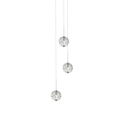 Image for LED Bubble Ball 3-light Round Pendant