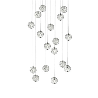Image for Bubble Ball 17-light Linear Canopy Pendant