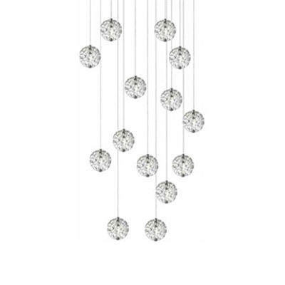 Image for Bubble Ball 14-light Linear Canopy Pendant