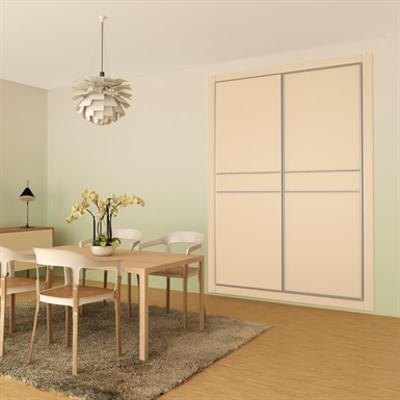 afbeelding voor STRUGAL CABINET FRONT Folding Doors (Two-Aluminium Inlays-Leaf)