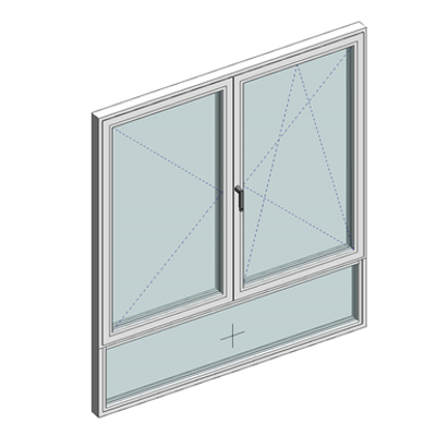 Image for STRUGAL S74RP Window (Two-Leaf+Fixed-Lower)