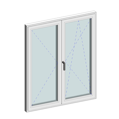 Image for STRUGAL S64RP Window (Two-Leaf)