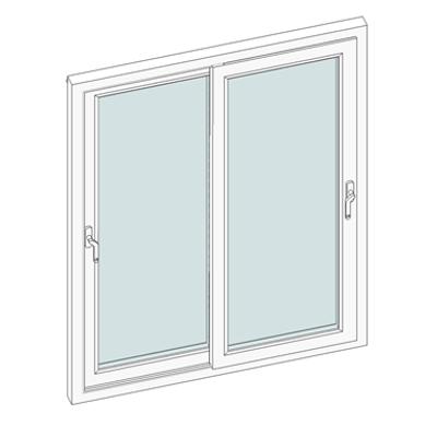 Image for STRUGAL S70C PVC Sliding Window (Two-Leaf)
