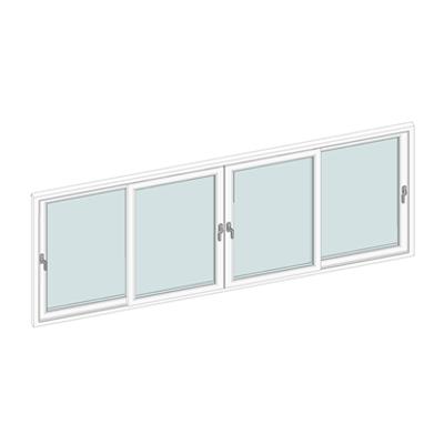 Image for STRUGAL S70C PVC Sliding Window (Four-Leaf)
