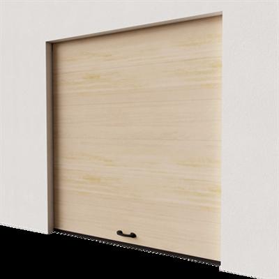 Image for Garage door - Veined Wood Plain Golden Oak Normal Lift