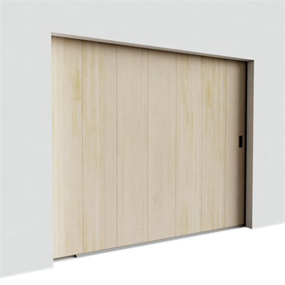 Image for Garage door - Veined Wood Mono Grooved Golden Oak Side Sliding