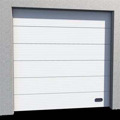 Image pour Porte Industrie Micro Rainurée Ral 9010 Levée Normale en Pente