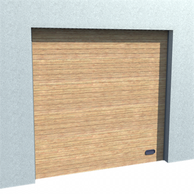 Image for Industrial Grooved Door Golden Oak Normal and High Lift