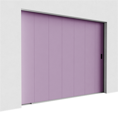 Image for Garage door - Veined Wood Plain Side Sliding