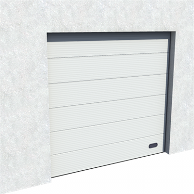 Image for Industrial Micro Grooved Door RAL 9006 Normal and High Lift