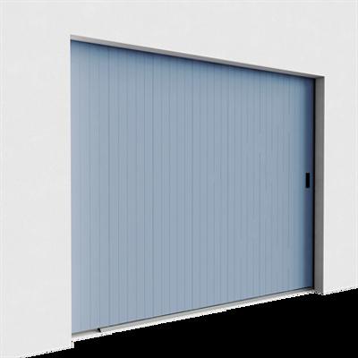Image for Garage door - Veined Wood Grooved Side Sliding