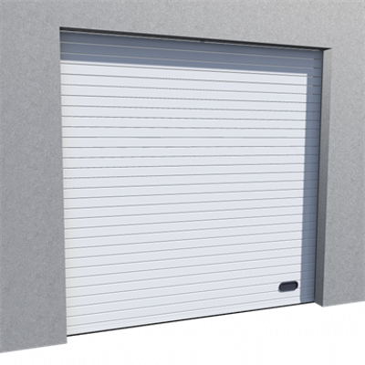 Image for Industrial Grooved Door RAL 9010 Normal Lift in Slope