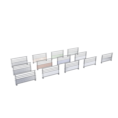 Image for Balustrades rails with base infill