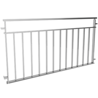 Image for Balustrades with bars under intermediate rail