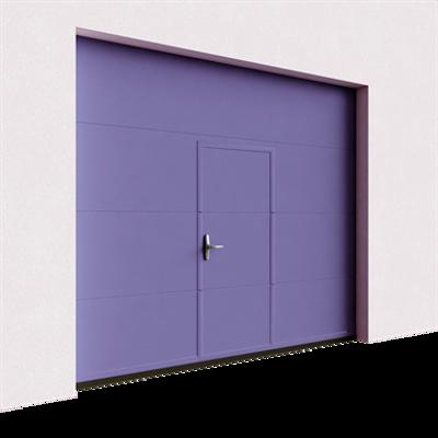Image for Garage door - Veined Wood Plain with Wicket Door Villa