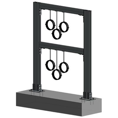 Image for Floor mounted HVAC hanger assembly 2xHc+2xVc