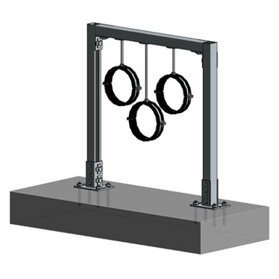 Image for Floor mounted HVAC hanger assembly 1xHc+2xVc