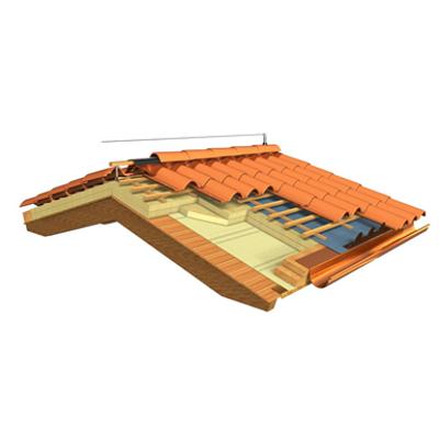 Roof system for clay tile Coppo Domus için görüntü