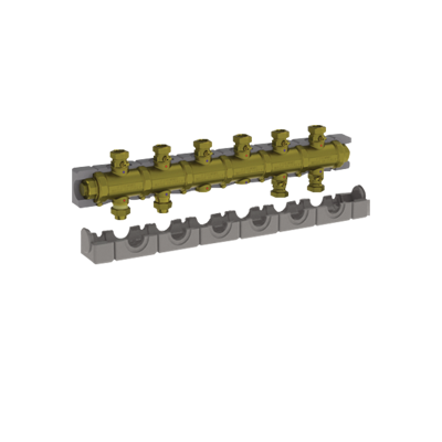 """Image for 5538G4M6 _ G1""""1/4 modular brass manifold with insulation for central heating  - COMPACT"""