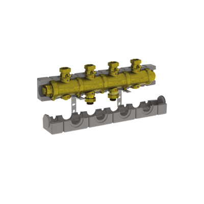 """Image for 5538G2M4 _ G1""""1/4 modular brass manifold with insulation for central heating  - LINEAR"""