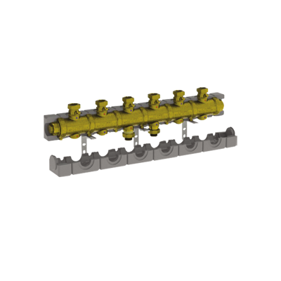 """Image for 5538G3M6 _ G1""""1/4 modular brass manifold with insulation for central heating  - LINEAR"""