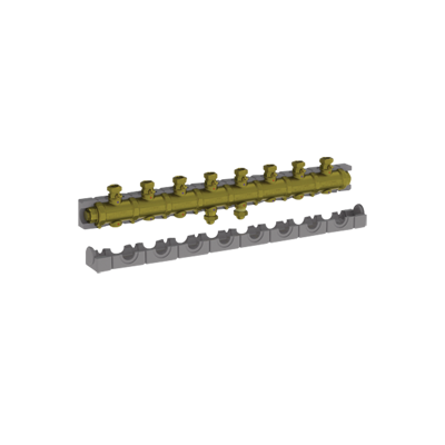 """Image for 5538G4M8 _ G1""""1/4 modular brass manifold with insulation for central heating  - LINEAR"""
