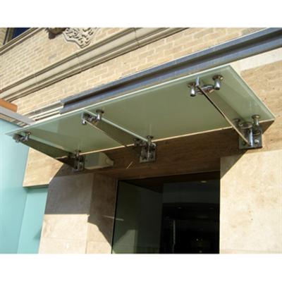 kuva kohteelle CRL Universal Wall Mounted Glass Awning Brackets (GAB series) Glass Canopy