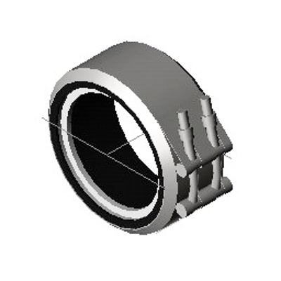Image for KIMAX Model 6661 Drainline Coupling Bead to Plain