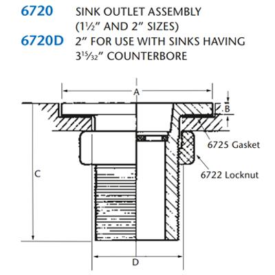 Image for KIMAX Model 6720 Sink Outlet Assembly