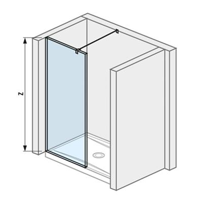 รูปภาพสำหรับ PURE Glass wall 795 walk in simple for shower tray 1400 mm