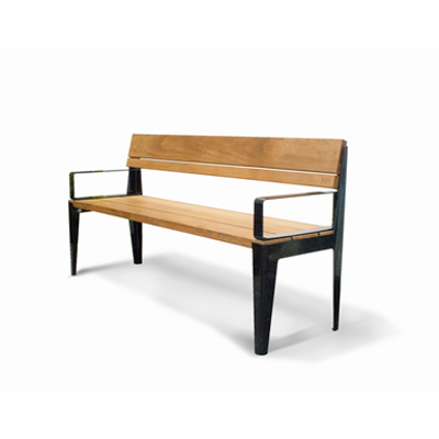 Image for Kuru public bench, with backrest