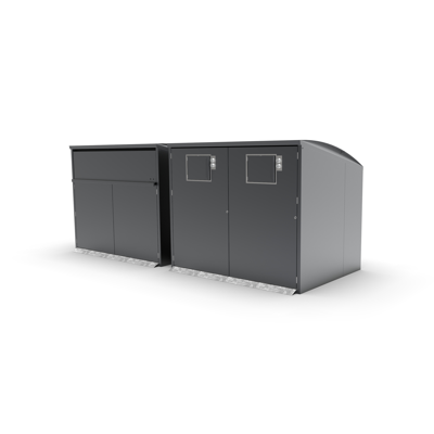 Image for Modul Maxi, bin shelter, litter bin, recycling, waste management, small hatch