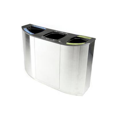 Image for Wave Triple, recycling, litter bin, 3 waste streams