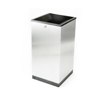 Image for Edge, litter bin, recycling, 100 l, indoor