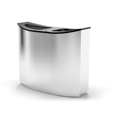 Image for Wave Double, recycling, litter bin, 2 waste streams