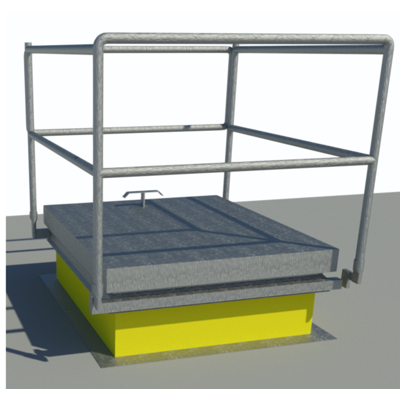 Image for Folding Guard Rail System with Roof Hatch