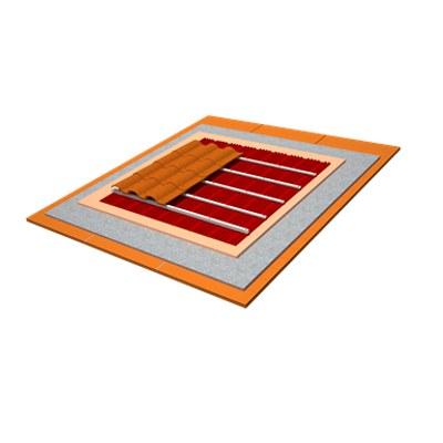 Image pour Onduline Underroofing System for ceramic slab roofs finished with Roman tiles