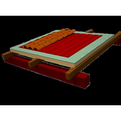 Onduline Integral ETICS roofing: OSB-finish ONDUTHERM Sandwich Panel  + Underroofing Sheet Onduline DRS BT-150 Plus + Roman tiles için görüntü