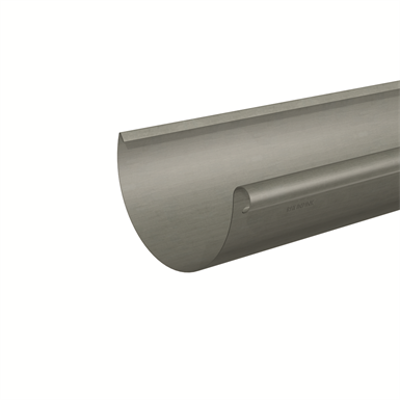 Image pour Gutter half-round (size 333, prePATINA graphite-grey)
