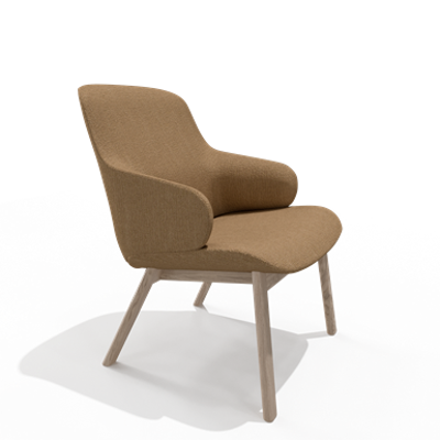 Image for Amstelle easy chair Wood legs