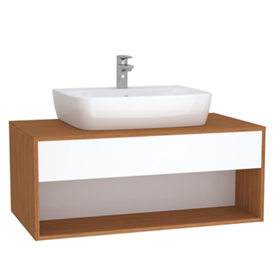 Image for Washbasin Unit - 100cm - Hotel Unit - For Countertop Basins - With 53cm Depth - With U-cut - İntegra Series - VitrA