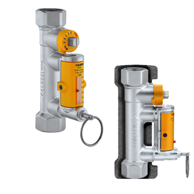 Image for Balancing valve with flow meter, for solar thermal systems