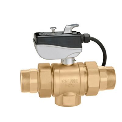 """Image for Motorised three-way ball valve, with """"L"""" drilling"""