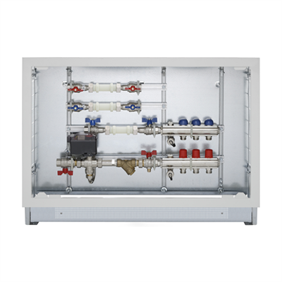 Image pour Energy Box -  Heating/cooling and hot/cold domestic water consumption measuring with flow-return manifolds of 1' (2÷12 ways) equipped with valves and lockshields