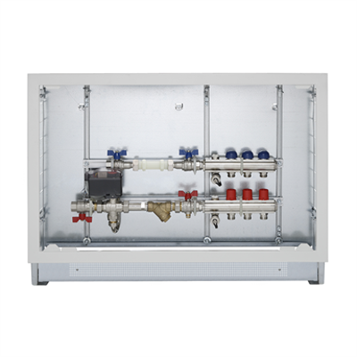 Image pour Energy Box - Heating/cooling consumption measuring with flow-return manifolds of 1' (2÷12 ways) equipped with valves and lockshields